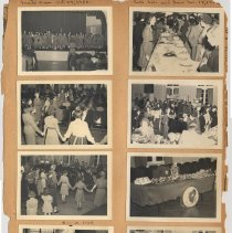 Image of leaf 07 front: 8 photos; Oct.- Dec. 1950, scouts own, cake sale & fair