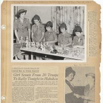 Image of leaf 54 front: newsclippings 1962; photo ceramics girl scout fair 1961