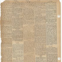 Image of leaf 54 back: newsclippings 1926, 1927, 1928, 1929, 1930, 1932