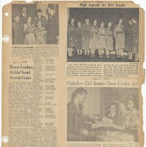Image of leaf 55 front: newsclippings 1948, 1949, 1952