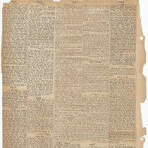 Image of leaf 56 back: newsclippings 1927, 1929, 1930, 1932; [end of album]