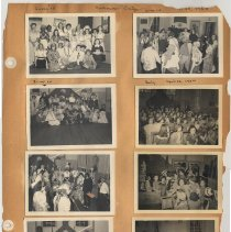 Image of leaf 09 front: 8 photos, sing; halloween 1951