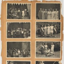 Image of leaf 11 front: 8 photos day camp, no date, circa 1950 -  1951