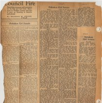 Image of leaf 12 back: newsclippings, 1927, 1928
