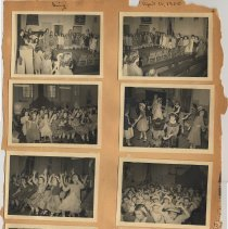 Image of leaf 14 front: 8 photos, sing, April 1950
