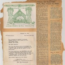 Image of leaf 15 back: documents 1951; newsclippings, 1926, 1951
