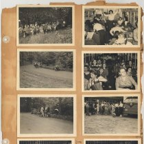 Image of leaf 16 front: 8 photos outing to park?, 1950; troop 15 cookout 1950