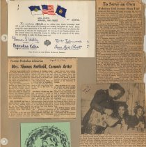 Image of leaf 02 front - back blank; documents & newsclippings, 1951, 1964, 1965
