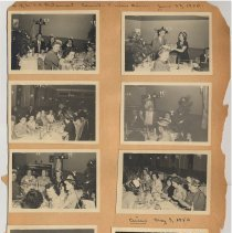 Image of leaf 17 front: 8 photos Lackawanna restaurant June 1950; circus 1950