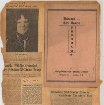Image of leaf 17 back: program; newsclippings 1927