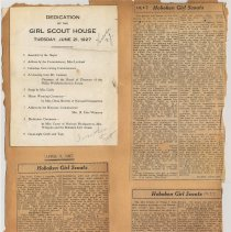 Image of leaf 18 back: scout house dedication program & newsclippings 1927