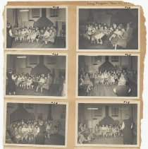 Image of leaf 19 front: 8 photos song program March 1950(?)