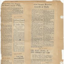 Image of leaf 20 back: newsclippings 1950