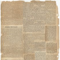 Image of leaf 24 back: newsclippings no date, ca. 1920s - 1940s ?