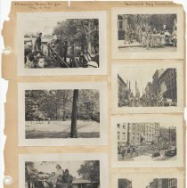 Image of leaf 25 front: 7 photos brownies bronx zoo 1951; memorial day parade 1951