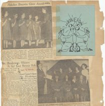 Image of leaf 25 back: document 25 anniversary; newsclippings 1946, 1952