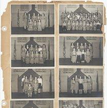 Image of leaf 28 front: 8 photos troop 9 1950