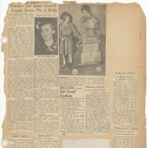 Image of leaf 29 front: newsclippings, 1952, 1953