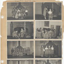Image of leaf 30 front: 8 photos troop no. 4, Feb. 1942