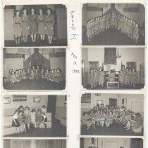 Image of leaf 31 front (back blank): 8 photos troop 1, 1942