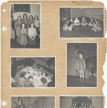 Image of leaf 32 front: 7 photos troop 5, brownies troop 6, 1942