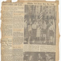 Image of leaf 35 back: newsclippings, 1950, 1951