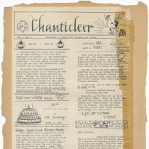 Image of leaf 36 back: newsletter, The G.S. Chanticleer, Vol. 1, No. 2, March 1950