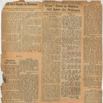 Image of leaf 05 back: newsclippings 1931