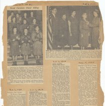 Image of leaf 38 front: newsclippings, 1937, 1939, 1949, 1950