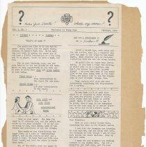 Image of leaf 38 back: newsletter, [Chanticleer], vol. 1, no. 1, Feb. 1950