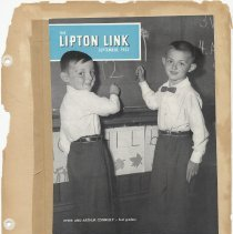 Image of leaf 39 front: full issue Lipton Link September 1952; see 2001.036.2001.90