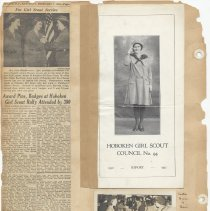 Image of leaf 40 back: report 1940; newsclipping 1953; photo 1950
