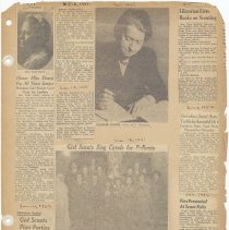 Image of leaf 41 front: newsclippings, 1952