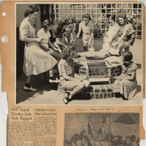Image of leaf 06 front: photo outdoor grill; newsclippings 1959, 1960