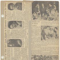 Image of leaf 44 front: newsclippings 1962, 1963