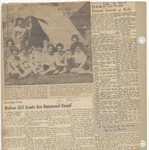 Image of leaf 44 back; newsclippings 1960, 1962