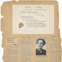 Image of leaf 46 front: newsclippings 1949, 1951; certificate 1949