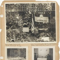 Image of leaf 50 front: 3 photos, spring garden 1951, tea 1951