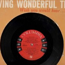"""Image of """"Over the Rainbow"""" sung by Frank Sinatra included on album titled '""""Having Wonderful Time, Wish you would hear...""""',33 rpm - Record, Phonograph"""