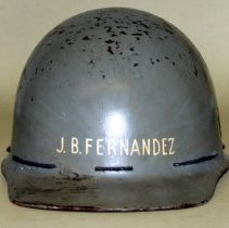Image of Helmet, work, belonging to Benny Fernandez & used by him at  the Bethlehem Steel Shipyard. - Helmet