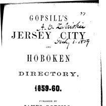 Image of Gopsill's Jersey City & Hoboken (New Jersey) 1859-1860 Directory - Directory, City