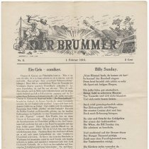 Image of Periodical: Der Brummer. No. 5, February 1, 1915. [Published by Johannes Saalfield, 312 Hudson St., Hoboken; Philip Stroh, Printer, Hoboken.] - Periodical