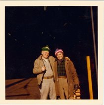 """Image of Image: color photo of Donald """"Red"""" Barrett (left) with fellow longshoreman on the Hoboken piers, Hoboken, no date, ca. 1970. - Print, Photographic"""