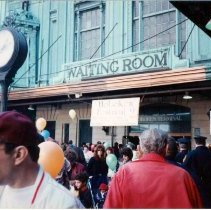 Image of Color photo of the NJ Transit Train Festival, Hoboken 1989. - Print, Photographic