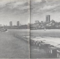 Image of pp [8-9] Hoboken as seen from Manhattan's Bank St. Pier.