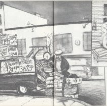 Image of pp [32]-33 Louis & his produce truck; Marie's Bakery 261 2nd St.