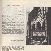 Image of pg 45 text: The Conversion of St. Pauls; image: The Abbey 821 Hudson St.