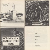 Image of pg [5] statues; sign: Hoboken is Nuclear Free Zone