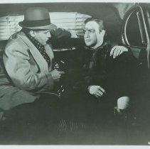 "Image of B+W copy photo of ""On the Waterfront"" movie still with Marlon Brando and Rod Steiger. - Print, Photographic"
