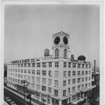 Image of B+W copy print of Keuffel & Esser Co. building at 4th & Adams, Hoboken ca. early 1960's. Photographer unknown. - Print, Photographic